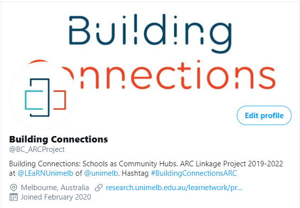 Image of Building Connections Twitter account