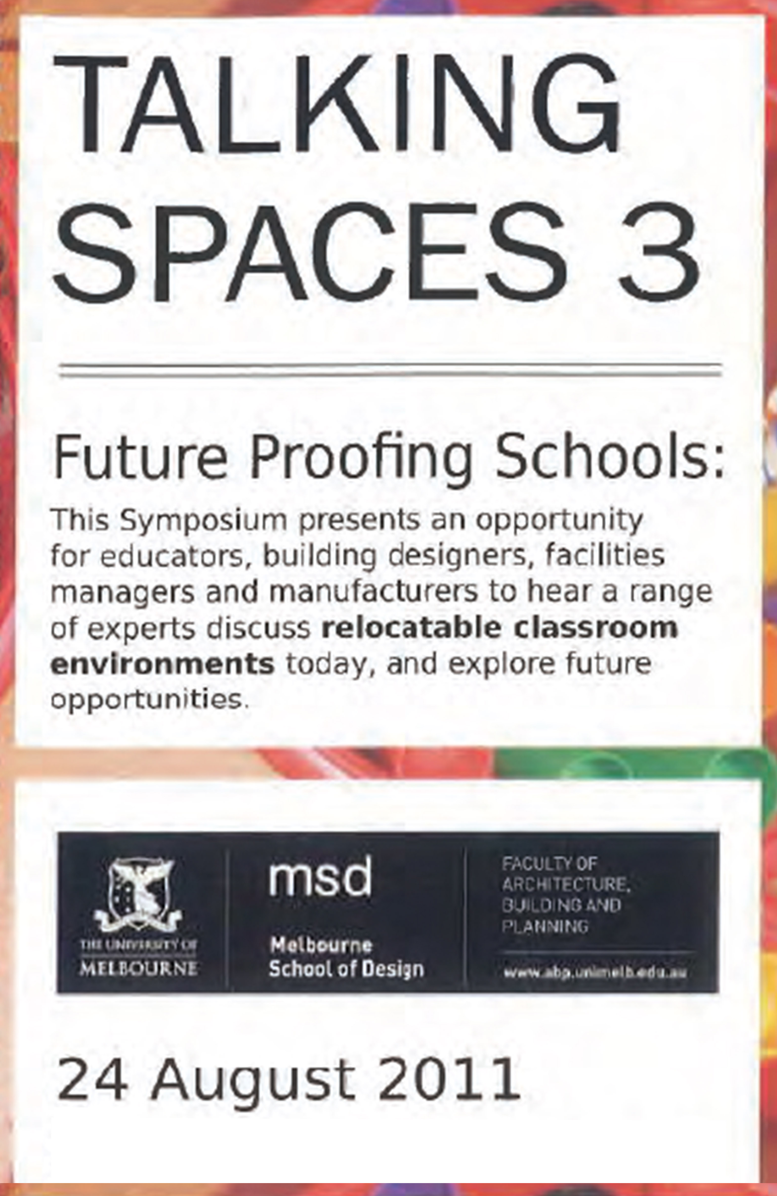 Talking Spaces 3 Program